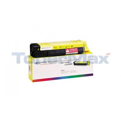 MEDIA SCIENCES TONER YELLOW FOR OKI C5550MFP C6100